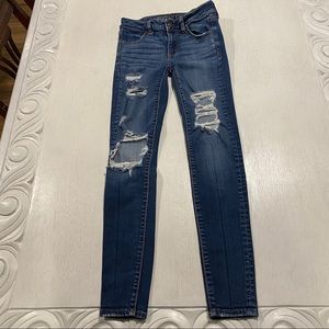 American Eagle Distressed Jegging Jeans Skinny